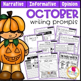 October Writing Prompts | Real-World and Draw & Write Formats
