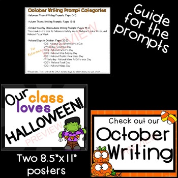 October & Halloween Writing Prompts *30 prompts!*