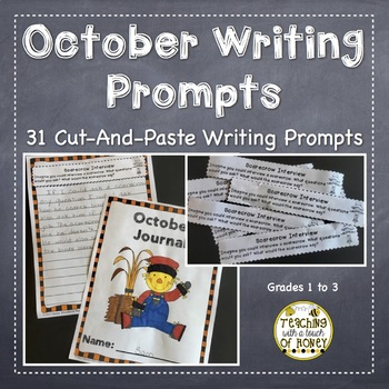 October Writing Activities | Writing Prompts | Cut-and-Paste Writing