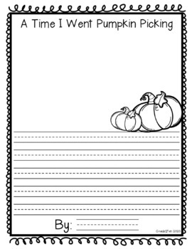 October Draw and Write Prompts