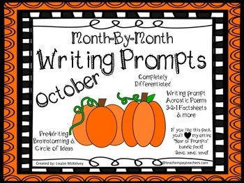 October Writing Prompts Journal Pack