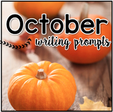 October Digital Writing Prompt Task Cards   Distance Learning