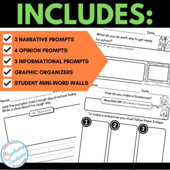 Writing Prompts for Second Graders | October Themes