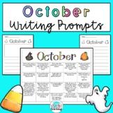 October Writing Prompts: Printable and Digital Google Slides