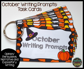 October Writing Prompts: Task Cards
