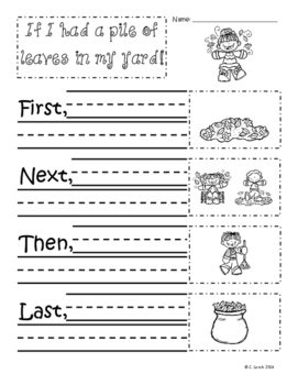 October Writing Prompts and Graphic Organizer Pack FREEBIE