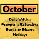 October Writing Prompts and DAILY Photos + Extensions  62