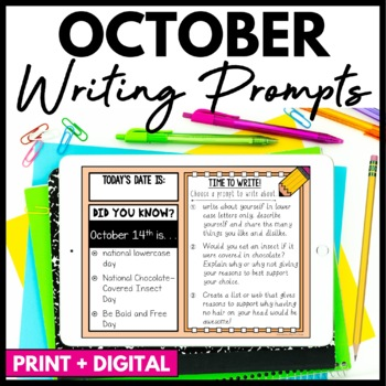 October Writing Prompts and Journal