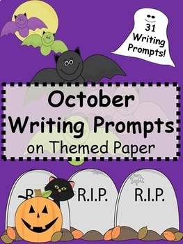 October Writing Prompts on Themed Paper {Just Print & Go!}