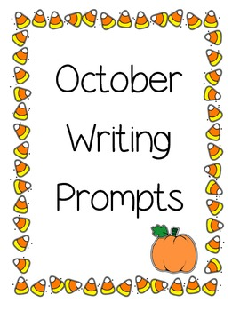 October Writing Prompts/Pages