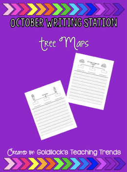 October Writing Station Tree Maps