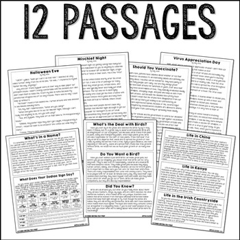October Writing Test Prep & ELA Paired Passages for Upper Elementary