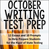 October Writing Test Prep & ELA Paired Passages for Upper