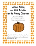 October Writing and Math Activities for the Primary Classroom