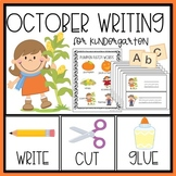 October Writing  for Kindergarten