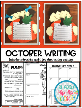October Writing with Page Toppers...simple crafts and writing activities.