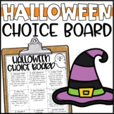 Halloween Choice Board - Morning Work or Early Finisher Activities