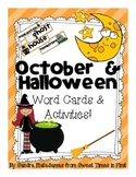 October and Halloween Vocabulary Words and Center Activities