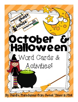 october and halloween vocabulary words and center activities - Halloween Vocab Words