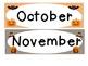 October and November Calendar Cards!