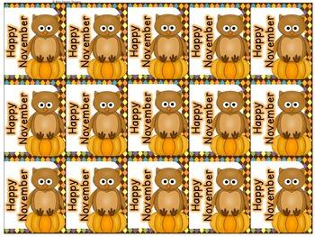 October and November Holiday Brag Tags