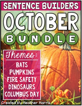October Sentence Builders BUNDLE