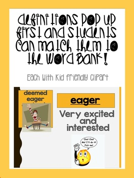 October bundle! Vocabulary PowerPoints match Rooted in Reading 3rd Grade Books