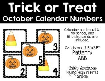 October calendar days