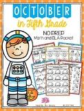 October in Fifth Grade (NO PREP Math and ELA Packet)