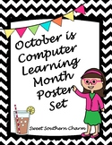 October is Computer Learning Month Bulletin Board