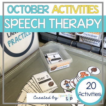 October Monthly Themed Therapy:  Falling into Speech and Language