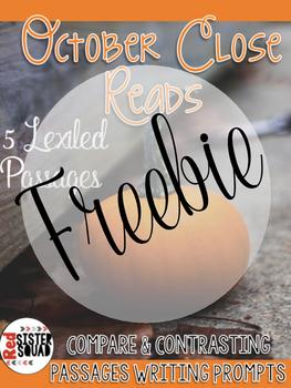 October leveled reader close read freebiee (Halloween)