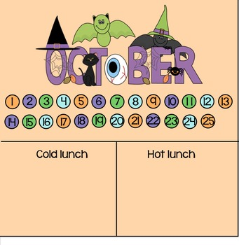 October lunch count and attendance