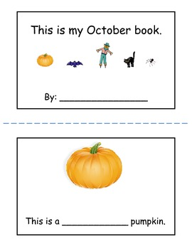 October mini book (WITHOUT Halloween)