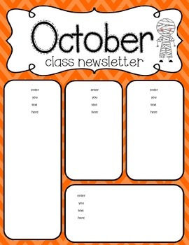 October newsletter freebie