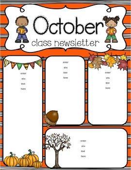 original-916998-3 October Clroom Newsletter Template Generator on