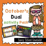 October's Dual School Counselor Activity Pack