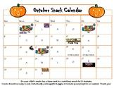 October snack calendar