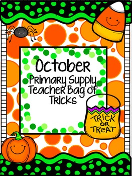October supply teacher bag of tricks (primary)