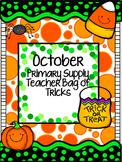 October supply teacher bag of tricks (primary)