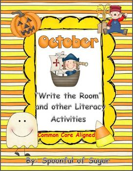 """October themed """"Write the Room"""" and other Literacy Activities"""