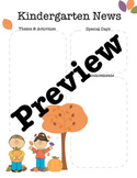October/Fall Kindergarten Newsletter