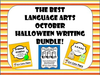 The Best Middle School ELA October/Halloween Writing Bundle