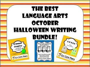 The Best Middle School ELA October/Halloween Writing Bundle