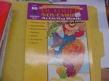 October/November Activity Book, gr. K-4