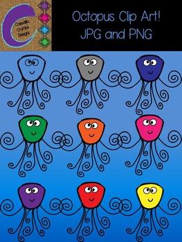 Octopus Clip Art  Color Images