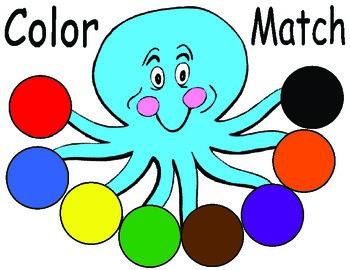 Octopus Color Match - 4 Child center activity