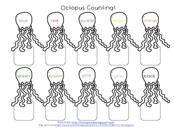 Octopus Counting! Ocean Theme