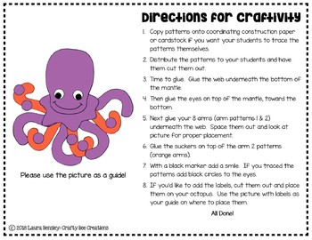Octopus Craft (Label It!)