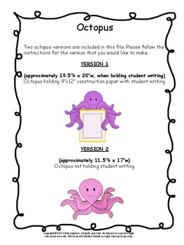 Octopus Craft Craftivity and cvc/cvce games